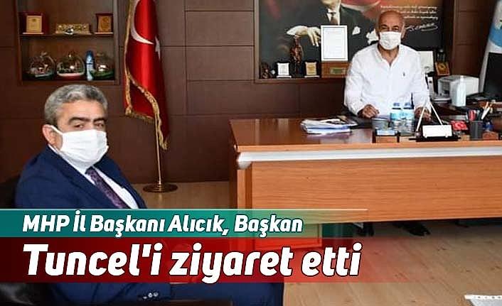 MHP İl Başkanı Alıcık, Başkan Tuncel'i ziyaret etti