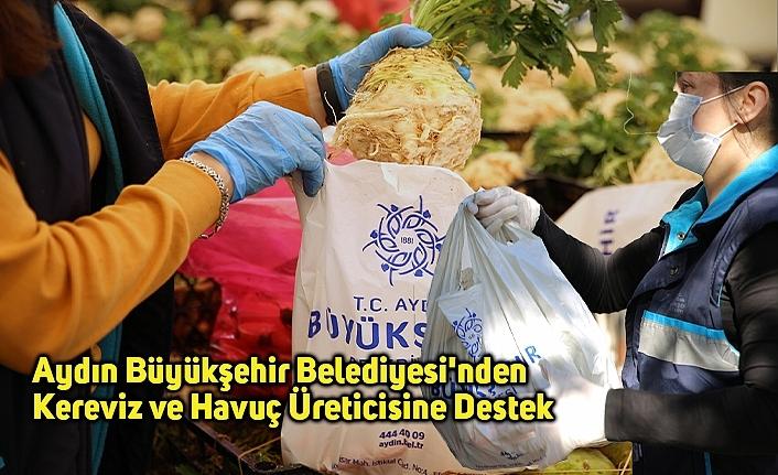 Aydın Büyükşehir Belediyesi'nden Kereviz ve Havuç Üreticisine Destek