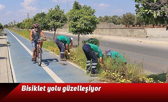 Bisiklet yolu güzelleşiyor