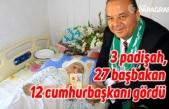 3 padişah, 27 başbakan, 12 cumhurbaşkanı gördü