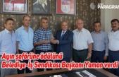 Ayın şoförüne ödülünü Belediye-İş Sendikası Başkanı Yaman verdi