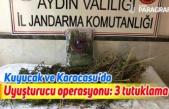 Kuyucak ve Karacasu'da uyuşturucu operasyonu: 3 tutuklama