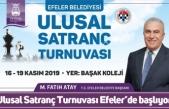 Ulusal Satranç Turnuvası Efeler'de başlıyor