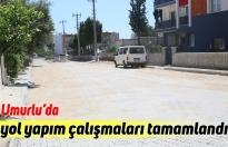 Umurlu'da yol yapım çalışmaları tamamlandı