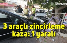 3 araçlı zincirleme kaza: 1 yaralı