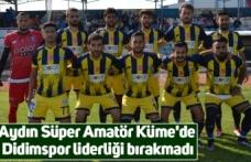 Aydın Süper Amatör Küme'de Didimspor liderliği bırakmadı