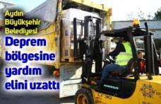 Aydın Büyükşehir Belediyesi deprem bölgesine yardım elini uzattı