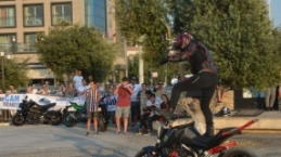 Motosiklet karnavalı motoshowla başladı