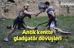 Antik kentte gladyatör dövüşleri