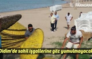Didim'de sahil işgallerine göz yumulmayacak