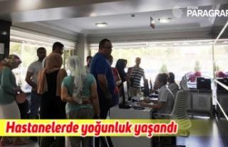 Aydın'daki hastanelerde bayram sonrası yoğunluk...