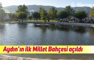 Aydın'ın ilk Millet Bahçesi, Vali Köşger tarafından...
