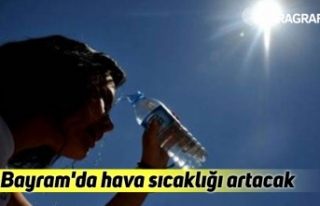 Bayram'da hava sıcaklığı artacak