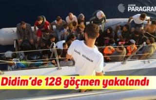 Didim'de 128 göçmen yakalandı