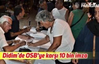 Didim'de OSB'ye karşı 10 bin imza
