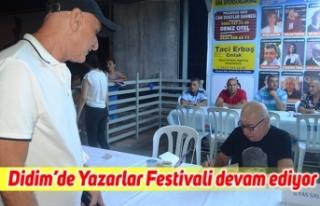Didim'de Yazarlar Festivali devam ediyor