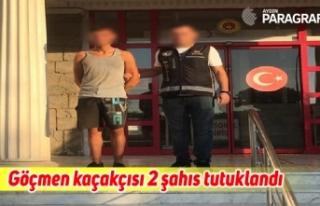 Göçmen kaçakçısı 2 şahıs çıkarıldığı...