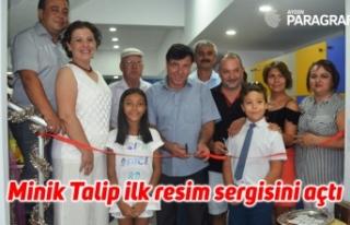 Minik Talip ilk resim sergisini açtı