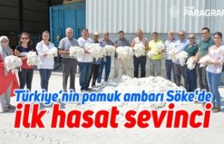 Türkiye'nin pamuk ambarı Söke'de ilk hasat...