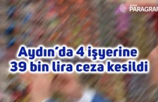 Aydın'da 4 işyerine 39 bin lira ceza kesildi