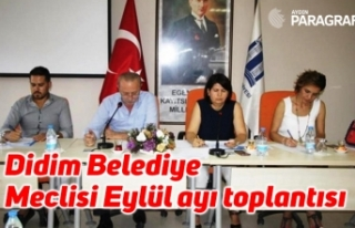 Didim Belediye Meclisi Eylül ayı toplantısı