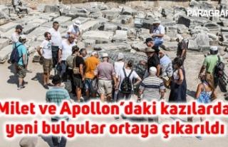 Milet ve Apollon'daki kazılarda yeni bulgular ortaya...
