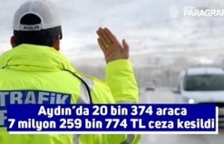 Aydın'da 20 bin 374 araca 7 milyon 259 bin 774...