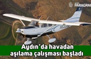 Aydın'da havadan aşılama çalışması başladı