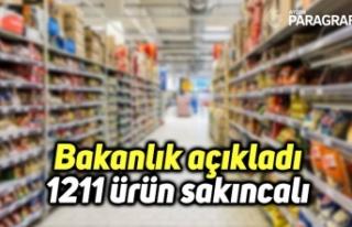 Bakanlık açıkladı: 1211 ürün sakıncalı