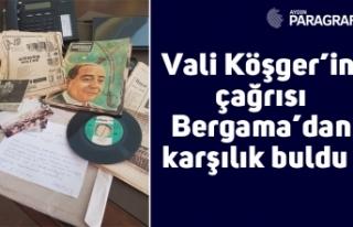 Vali Köşger'in çağrısı Bergama'dan karşılık...