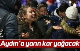Aydın'a yarın kar yağacak