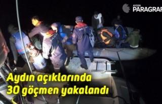 Aydın açıklarında 30 göçmen yakalandı