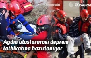 Aydın uluslararası deprem tatbikatına hazırlanıyor