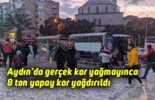 Aydın'da gerçek kar yağmayınca 8 ton yapay kar...