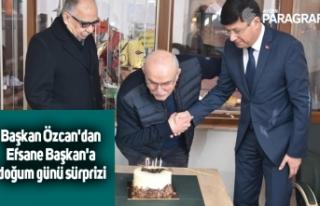 Başkan Özcan'dan Efsane Başkan'a doğum...