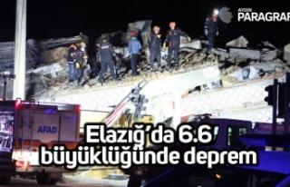 Elazığ'da deprem 6.6