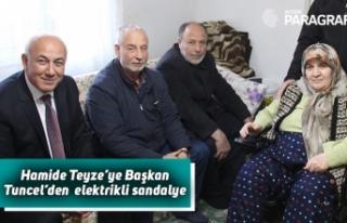 Hamide Teyze'ye Başkan Tuncel'den elektrikli...