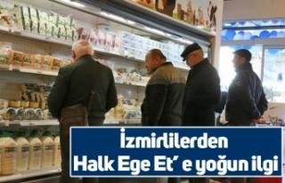 İzmirlilerden Halk Ege Et' e yoğun ilgi
