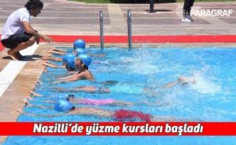 Nazilli'de yüzme kursları başladı
