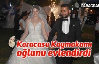 Karacasu Kaymakamı oğlunu evlendirdi
