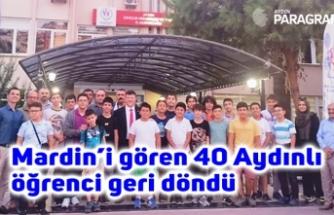 Mardin'i gören 40 Aydınlı öğrenci geri döndü