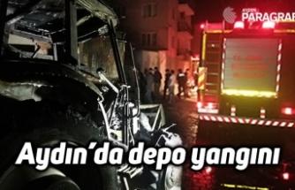 Aydın'da depo yangını