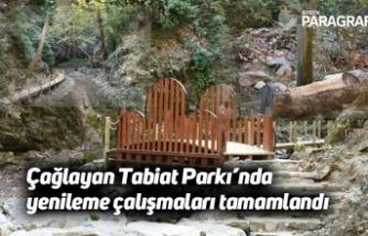 Çağlayan Tabiat Parkı'nda yenileme çalışmaları tamamlandı