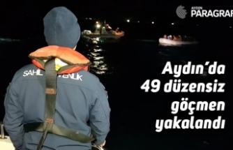 Aydın'da 49 kaçak göçmen yakalandı