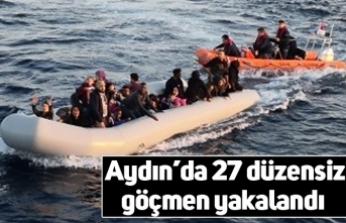 Aydın'da 27 düzensiz göçmen yakalandı
