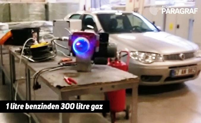 1 litre benzinden 300 litre gaz