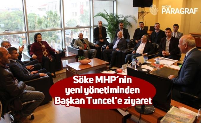 Söke MHP'nin yeni yönetiminden Başkan Tuncel'e ziyaret
