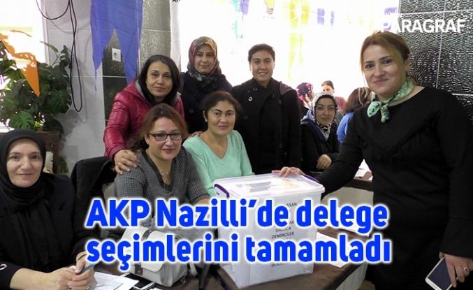AKP Nazilli'de delege seçimlerini tamamladı