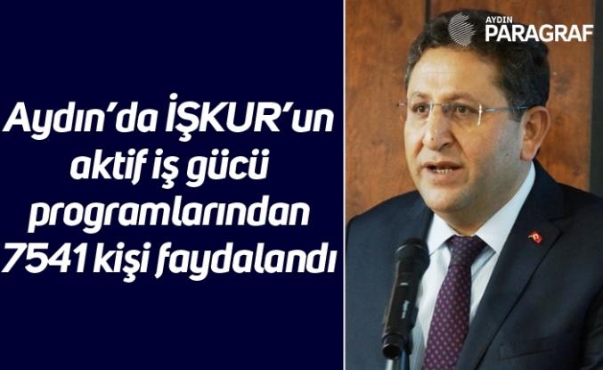 Aydın'da İŞKUR'un aktif iş gücü programlarından 7541 kişi faydalandı