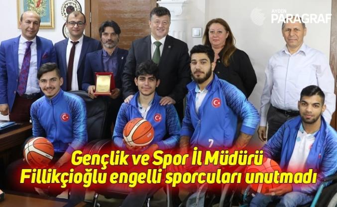 Gençlik ve Spor İl Müdürü Fillikçioğlu engelli sporcuları unutmadı
